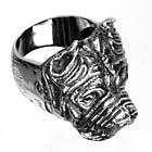 Edelstahl-Ring Staffordshire Bullterrier, Terrier, Hund, Bulldog