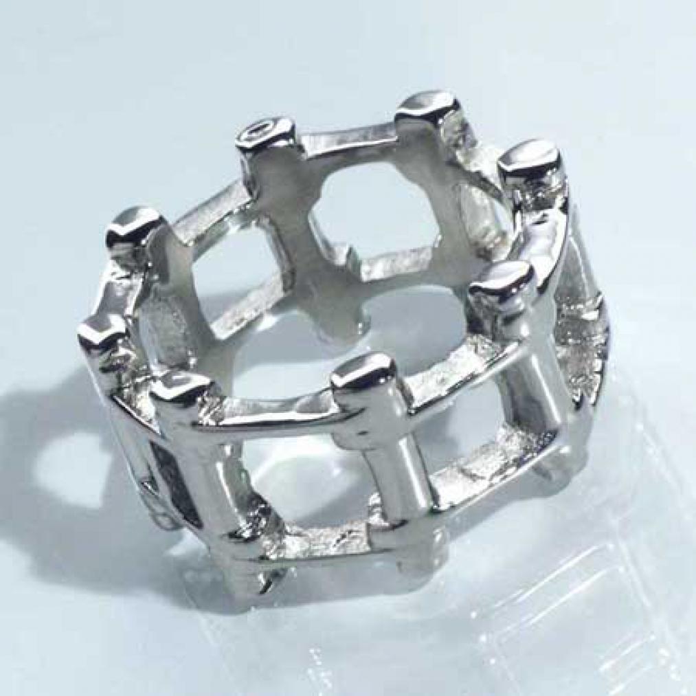 fetter edelstahl ring als motorradkette chromglanz. Black Bedroom Furniture Sets. Home Design Ideas