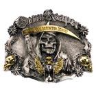 Vergoldetes Grim Reaper- Buckle Skull Sensenmann Gürtelschnalle