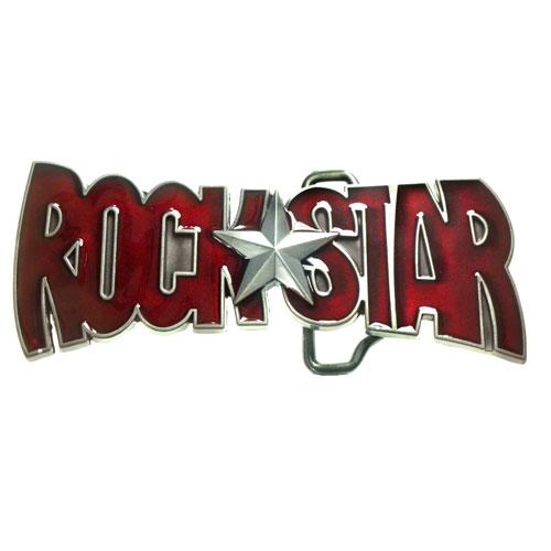 buckle rock star in red skirt music belt buckle ebay. Black Bedroom Furniture Sets. Home Design Ideas