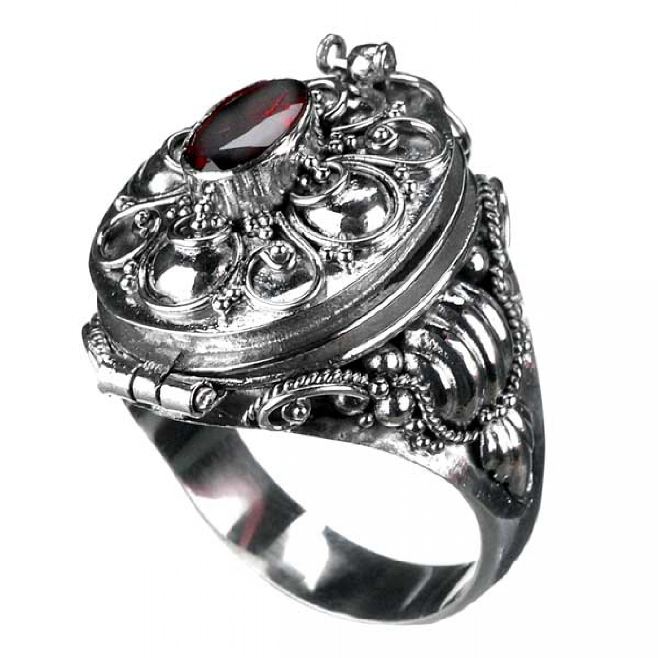 gift ring mit granat 925er silber ring gothic stein ebay. Black Bedroom Furniture Sets. Home Design Ideas