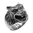 Edelstahl-Ring Wolfskopf, Wolf