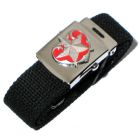 Schwarzer Stoffgürtel Tattoo Herz mit Stern Web- Belt