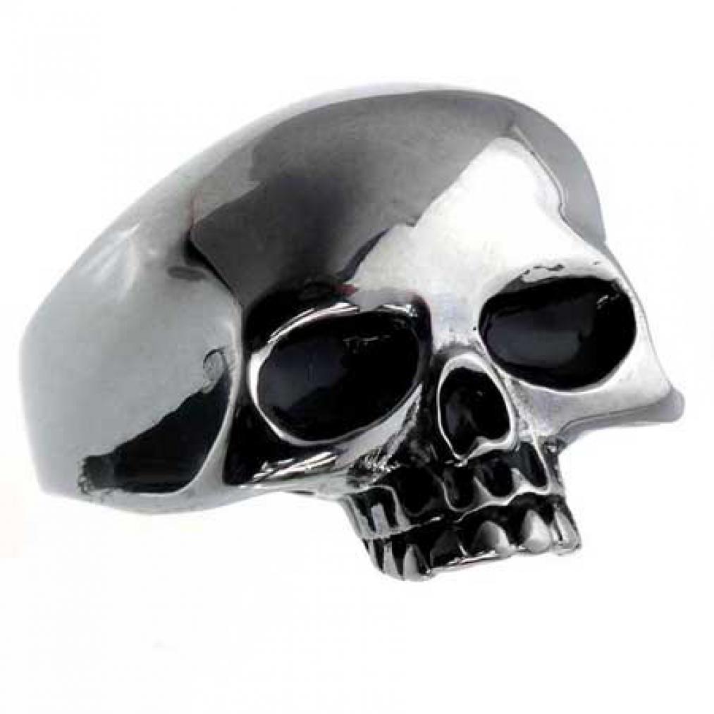 Edelstahl-Ring Skull Face, Totenkopf