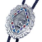 Bolo Tie Indianer-Häuptling, Feder-Schmuck, Bolotie, Western Krawatte