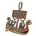 3D-Anhänger Wikingerschiff, Bronze, Wikinger, Kelten, Pendant