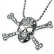 Anhänger Skull & Bones, Totenkopf, Strass, Gothic, Punk