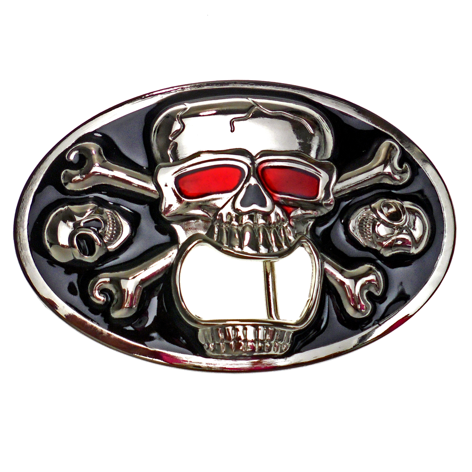 buckle skull bones with bottle opener skull belt buckle ebay. Black Bedroom Furniture Sets. Home Design Ideas