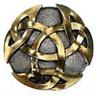 Vergoldetes Buckle mit Keltenknoten Endlosknoten Gürtelschnalle