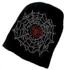 Beanie Cap mit Spinne im Netz, Spider, Spiderman, Strickmütze