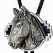 3D Bolo Tie Kopf eines Mustangs Pferd Western Krawatte Bolotie