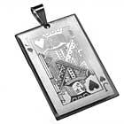 Edelstahl-Anhänger Herzbube Spielkarte Karten Spiel Gambling