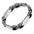Edelstahl- Armband, HiTec aus Stahl & Kautschuk, 21 cm lang