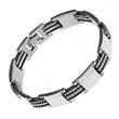 Edelstahl- Armband, Hitec Stahl & Kautschuk- Elemente, 21 cm lang