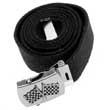 Web Belt in schwarz - Rennflaggen - Stoffgürtel