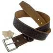 Premium Leder- Gürtel, Braun, Edle Punzierung, geprägt, Größe S oder XL