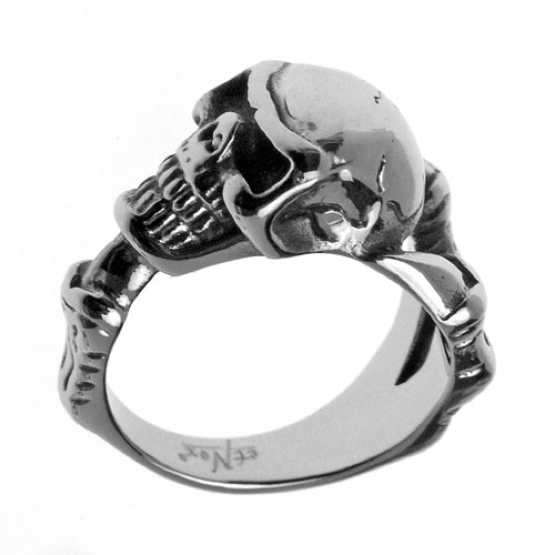 Edelstahl-Ring Drachenklaue mit Skull, Totenkopf, Dragon claw
