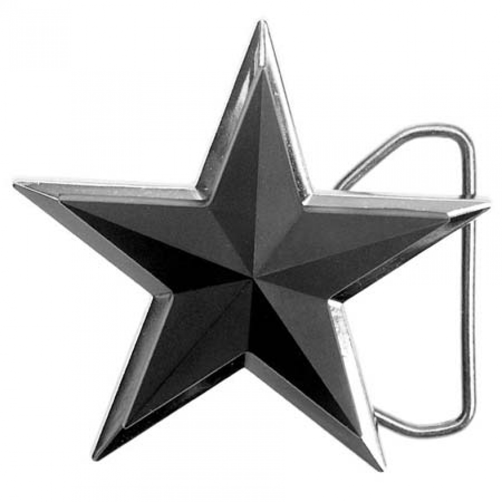 buckle 3d tattoo stern schwarz matt g rtelschnalle ebay. Black Bedroom Furniture Sets. Home Design Ideas