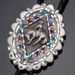 Bolo Tie Rodeo, Cowboy, indianisches Muster, Bolotie