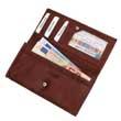Dunkel-rotbraune Brieftasche aus Leder - Geldbeutel, Portemonnaie