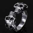 Edelstahl- Ring Totenkopf mit Krallen Skull Dragon Claw Gothic
