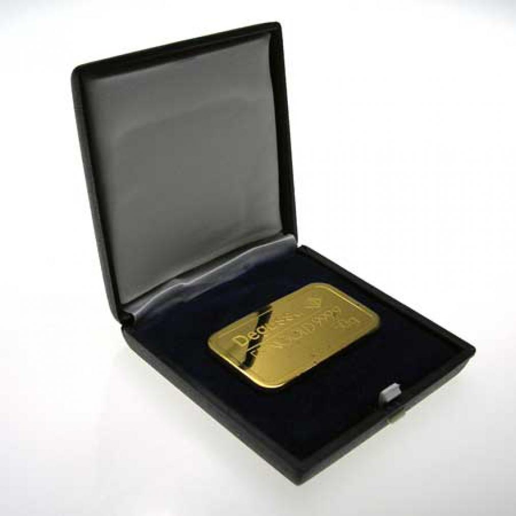 original 50 gramm goldbarren degussa 999 9 feingold gold ebay. Black Bedroom Furniture Sets. Home Design Ideas