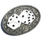Ovales Buckle Würfel-Spiel, Dice, Western Ranken, Gürtelschnalle