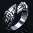 Edelstahl- Ring Klaue Dragon Claw Drachenklaue