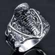 Edelstahl-Ring Schlange, Kobra, sehr plastisch