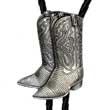 Bolotie Cowboy- Stiefel mit Goldschimmer Bolo Tie Western Krawatte