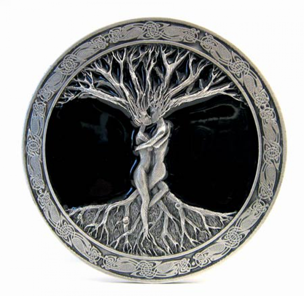 buckle mit tree of life baum des lebens keltisch. Black Bedroom Furniture Sets. Home Design Ideas