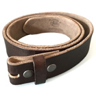 Vollleder-Gürtel fürs Buckle, dunkelbraun, leichter Used Look, S - XL