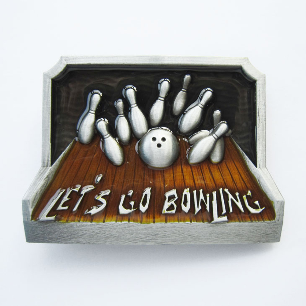 Buckle Let's Go Bowling, Bowlen, Kegeln, Gürtelschnalle