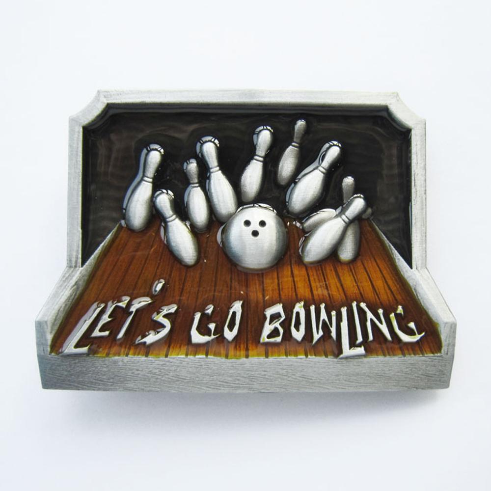 Buckle Let's Go Bowling, Kegeln, Ball, Sport, Gürtelschnalle