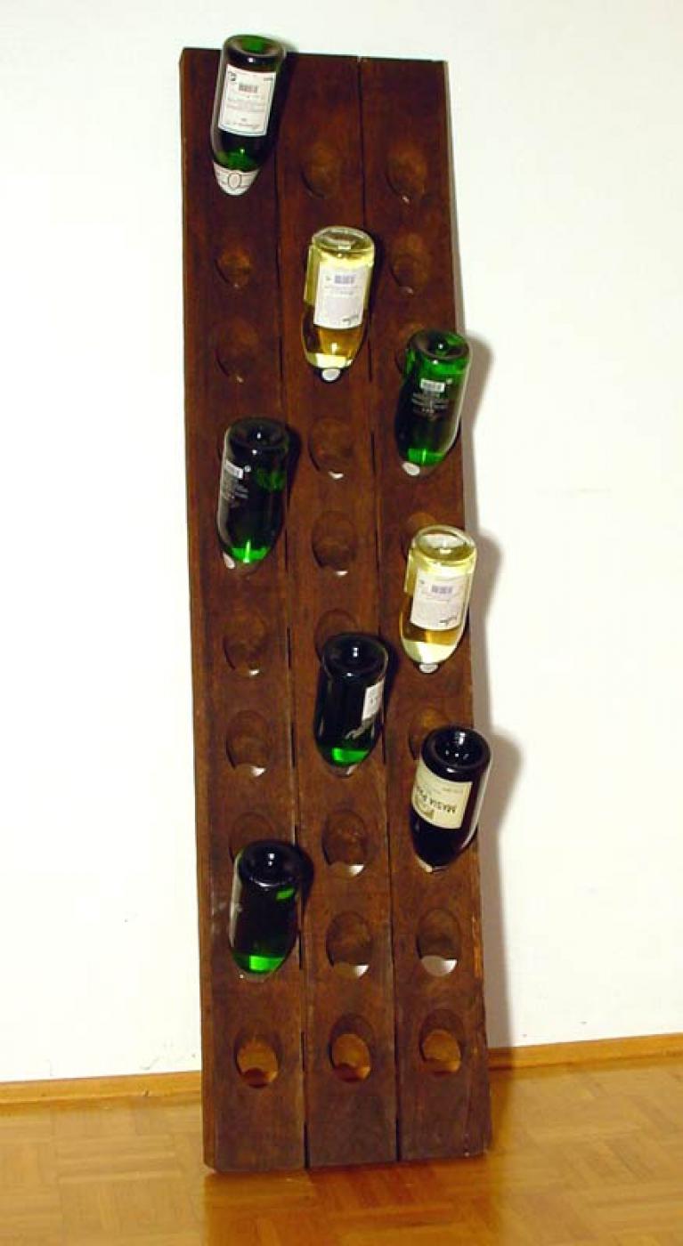 Old riddling rack wine rack champagne for 30 bottles ebay for Old wine rack