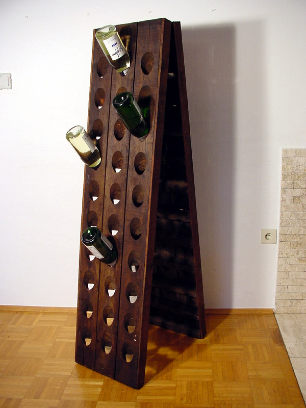 old riddling rack wine rack champagne for 60 bottles ebay
