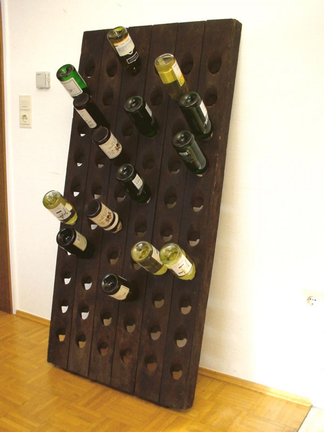 Big old riddling rack wine rack pommery 60 bottle holes for Old wine rack