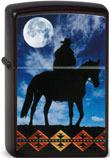 Original Zippo Cowboy Moon Cowboy vor Mond farbiger Aufdruck