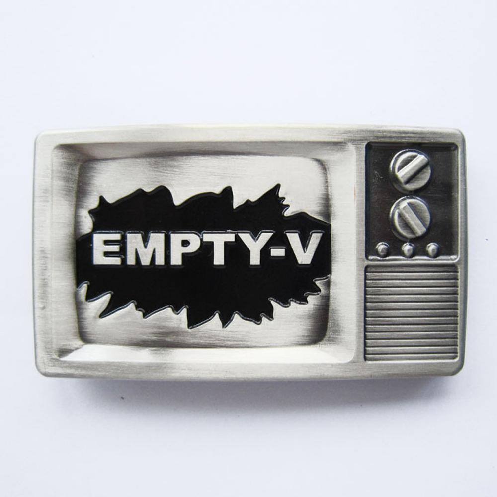Buckle Leerer Fernseher Empty TV Fernsehen Gürtelschnalle