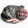 Buckle American Fire Fighter, Feuerwehr, Firefighter, Gürtelschnalle