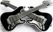 Buckle Gekreuzte E-Gitarren, Guitars - Gürtelschnalle