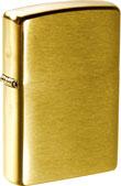 Original Zippo, Messing gebürstet, Brass Brushed, Gold