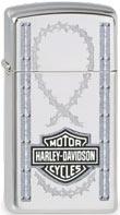 Original Zippo Harley-Davidson Wire & Shield Slim, schmal