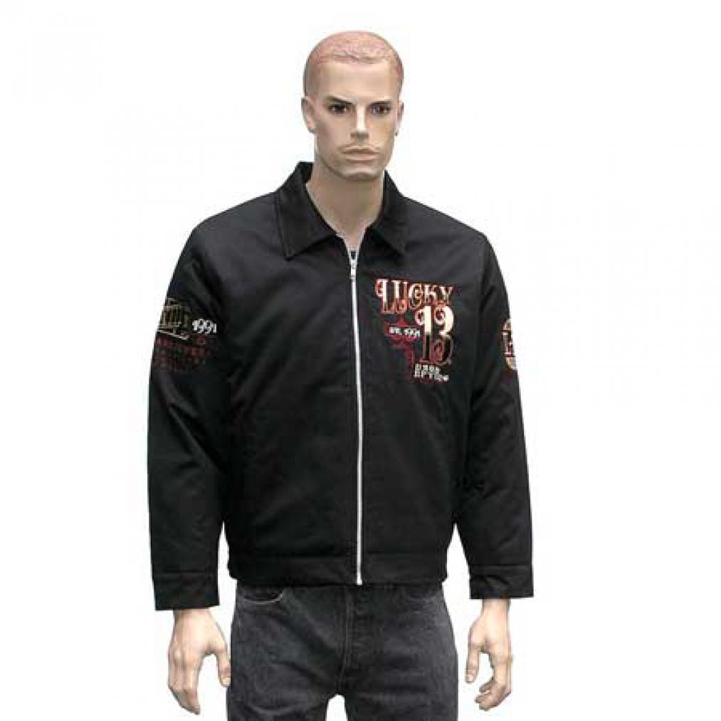original lucky 13 work jacket racing devil jacket size s. Black Bedroom Furniture Sets. Home Design Ideas