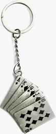 Schlüsselanhänger Royal Flush, Poker, Glücksspiel