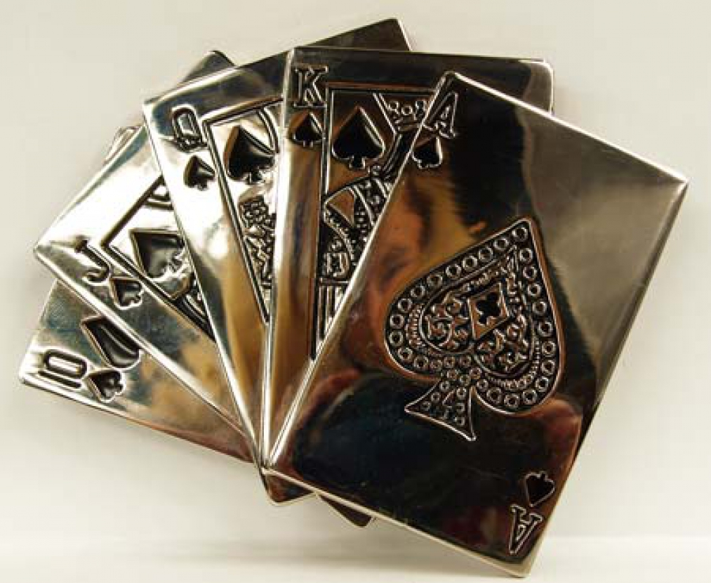 Poker belt buckles
