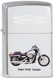 Original Zippo Harley-Davidson Dyna Super Glide mit Aufdruck & Gravur
