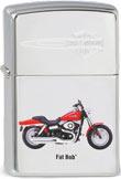 Original Zippo Harley-Davidson Fat Bob mit Aufdruck und Gravur