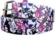 Fashiongürtel weiß Musik E-Gitarre Tattoo Größe S-XL