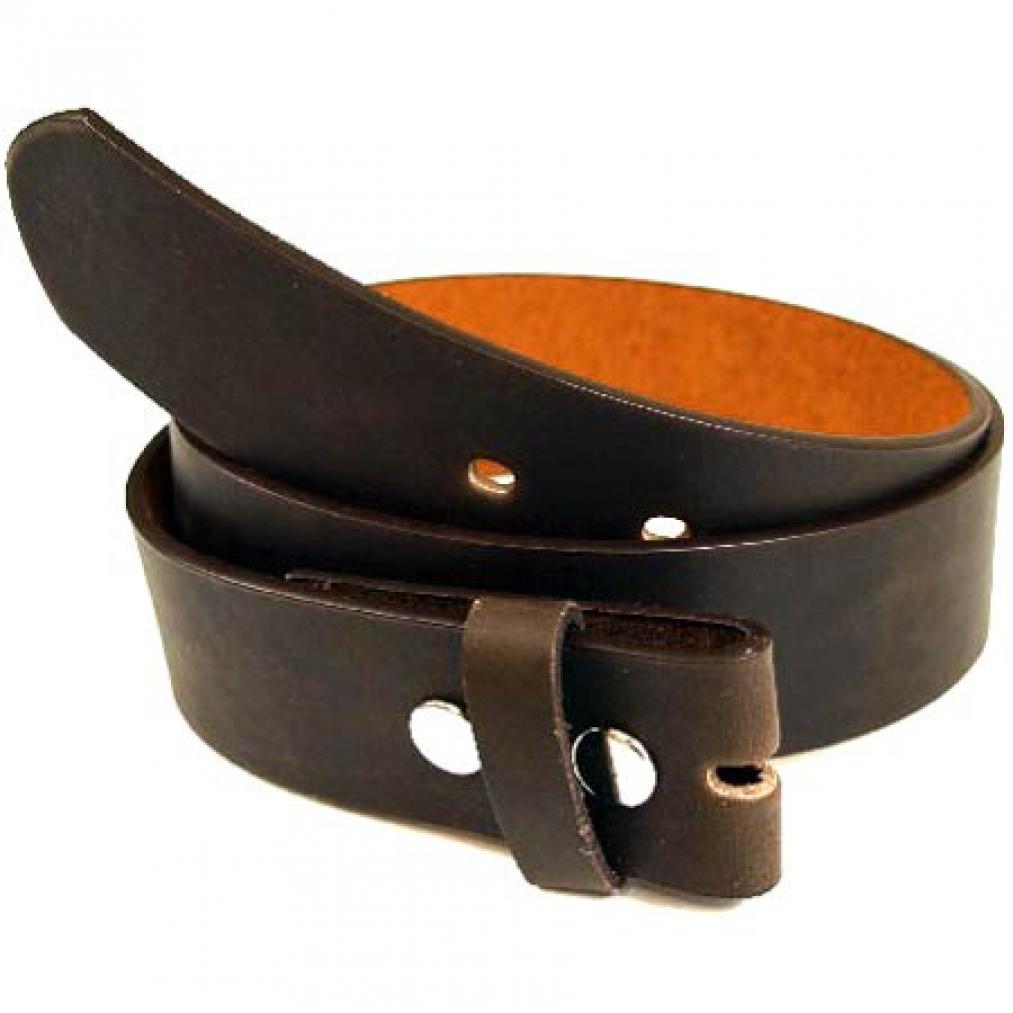 Dunkelbrauner Gürtel fürs Buckle, 4 mm dick, Größe S-XL